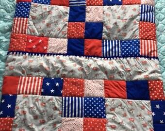 USA/Cowboy Handmade Patchwork Quilt