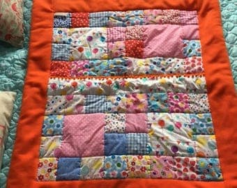 Bespoke Cwtchy Handmade Patchwork Cot Quilt
