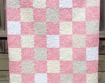 Handmade toddler  or child quilt