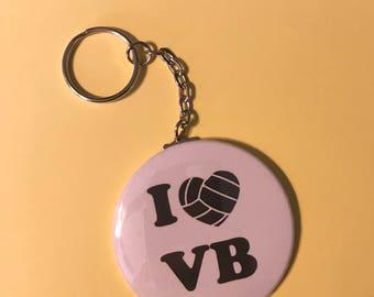 Volleyball Keychain