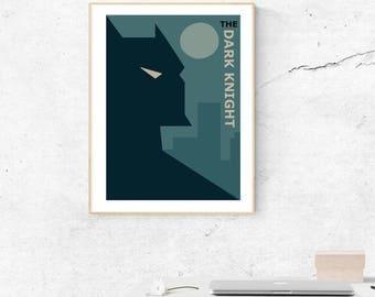 The dark knight Batman minimalist poster.