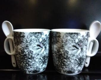 Mugs With Stirring Spoons