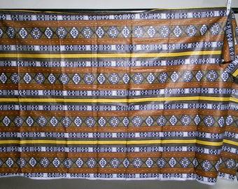 African wax printed yardage