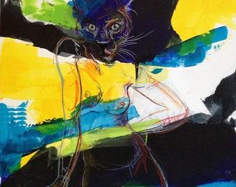 Hybrid Animal woman painting