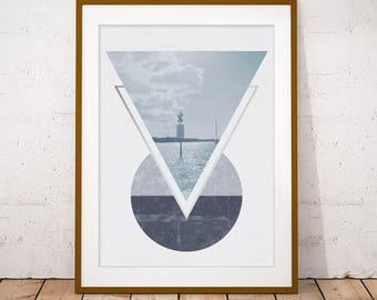 Vacation seascape etsy for Minimalist gifts for housewarming