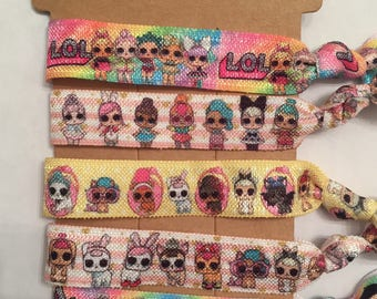 New LOL Pets and Surprise Doll Hair Elastic Ties
