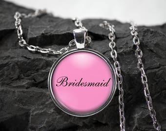 Bridesmaid Glass Pendant wedding necklace bridesmaid wedding jewelry wedding party gift photo pendant photo jewelry  glass jewelry