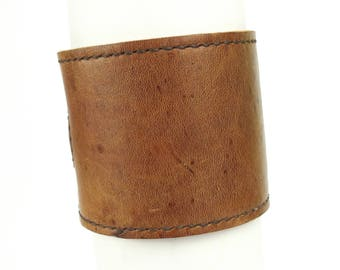 Leather Cuff, mens leather cuff, leather bracelet, cuff bracelet, men's cuff, brown cuff, brown bracelet