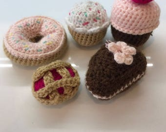Handmade Crochet Kids Play Food