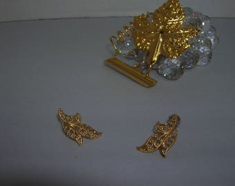 Tiny leaves earrings
