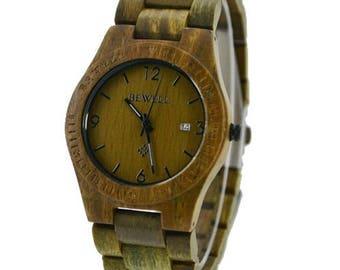 Wooden Watch - Era Green