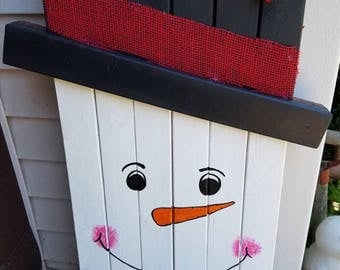 Happy Snowman Greeter