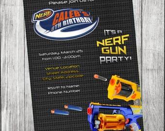 Nerf Gun Invitation
