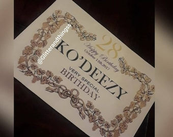 Custom Cognac Label for birthdays, weddings and any other occasions