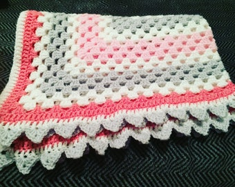 Custom crochet baby blanket to fit pram pushchair Moses basket your choice of colours
