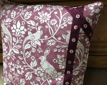 "22"" handmade luxury cushion"