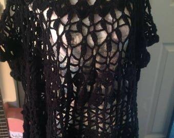 Free size Black Crochet Dress/top
