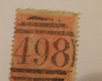Great Britain #34 4 pence Vermillion POS B1 Queen Victoria postage stamp BV 95.00