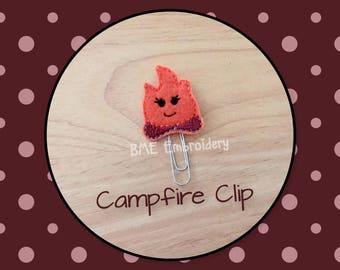 Planner Clip Campfire-Planner Clip-Planner Accesories-Planner Supplies- Paper Clip-Campfire Felt- Paper Clip-Journal Clip-Bookmark