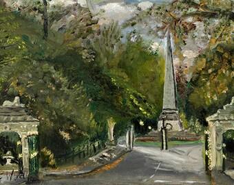 Victoria Park, Bath UK. An original unique oil painting