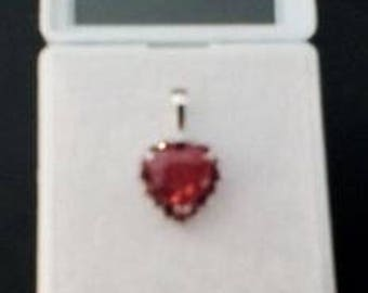 Nice Red Heart Spinel Pendant
