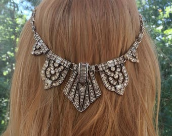 Great Gatsby Headpiece, Boho Bridal Headpiece, Boho Wedding Headpiece, Bohemian Wedding Headpiece , Bohemian Bridal Headpiece