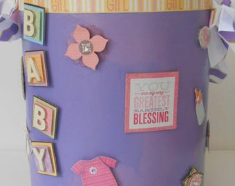 Milestone Can/Baby girl/ baby book can style
