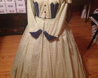 1860 reenacting day dress