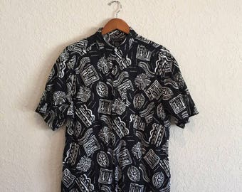 Vintage 90s short sleeve button down