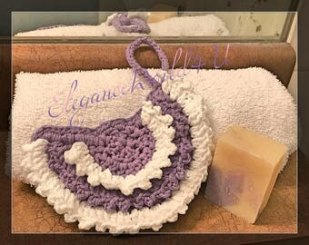 Exfoliating shower sponge, Crochet sponge, Bath sponge