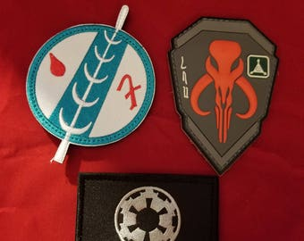 Star wars patches, Mandalorian, Jedi, Empire, Sith, boba fett