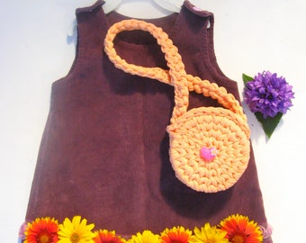 Bag for baby 2 years.Сhildren's handbag.For girl.