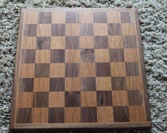 Hardwood Chessboard in Cherry and Walnut