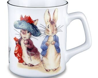 Reutter Porcelain Beatrix Potter Peter Rabbit and Friends Limited Edition Mug (58.064/0)