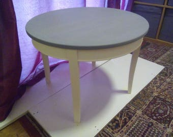 Shabby chic round table in clotted cream and anthracite grey but without the shabby look just chic