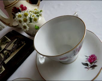 rose china with gold trim