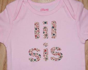 "Baby Girl's ""lil sis"" Bodysuit"