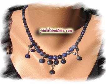 Sodalite and Sterling Silver 925 necklace