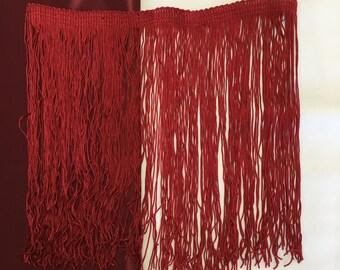 Vintage Red Fringe