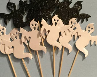 Halloween ghost cupcake toppers