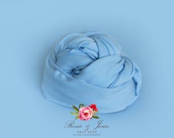Baby Blue newborn photography cotton stretch wrap FREE UK SHIPPING