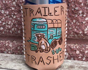 Trailer Trashed drink cozie