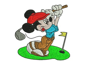 Mickey Mouse Embroidery Design, Mickey Embroidery Design, Disney Embroidery Design, Golf Embroidery Design, Girl embroidery design