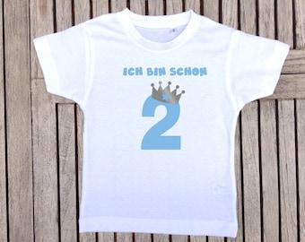 """Birthday T-Shirt """"I'm already"""" boy 1"""