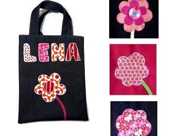 Library bag child flower pattern