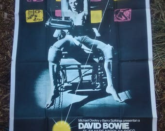1977 ORIGINAL DAVID BOWIE The Man Who Fell to Earth Argentina film 1 sheet poster
