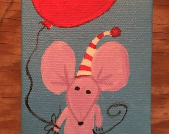 Mouse and red balloon