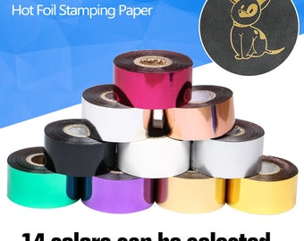 FREE SHIPPING Rolls(gold and slilver) Hot Foil Stamping Paper Heat Transfer Anodized Gilded Paper Christmas gift