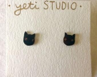 Adorable Black Cat Earrings