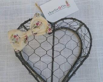 Tilda Floral Fabric Hair Bow
